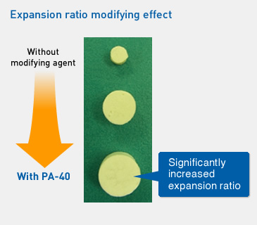 Expansion ratio modifying effect
